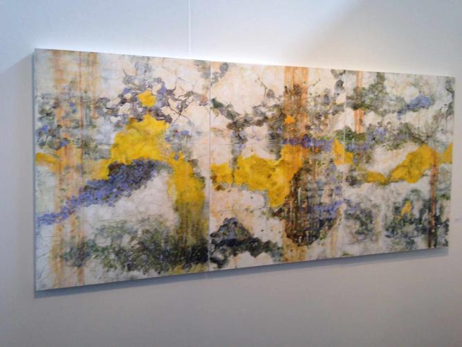 Riita Klint Triptych at Art Vitam © JoAnneh Nagler