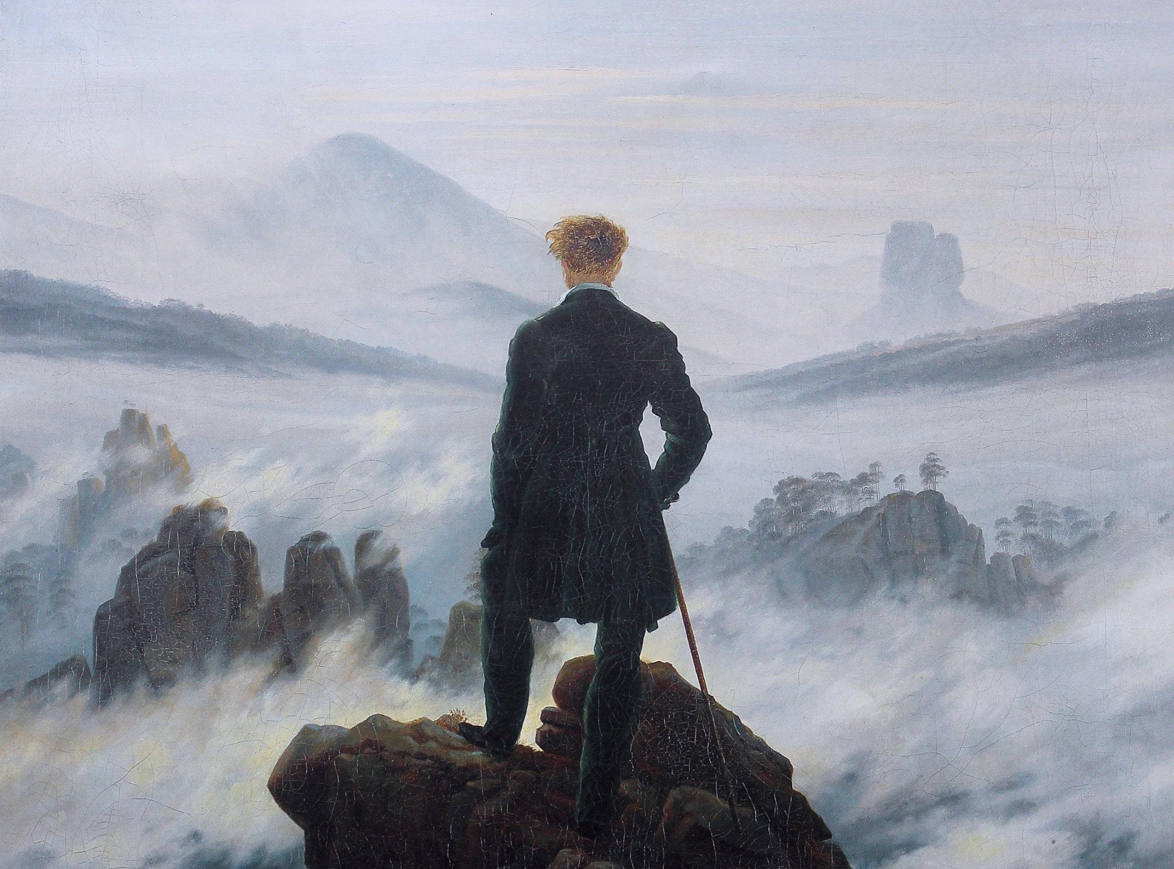 Voyageur au dessus des nuages, Caspar David Friedrich