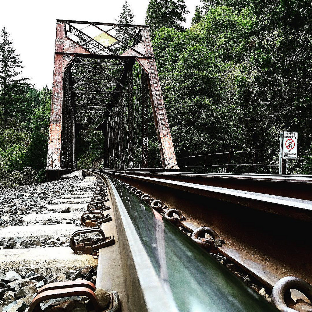 Dunsmuir California Train Tracks © Jake Spurlock