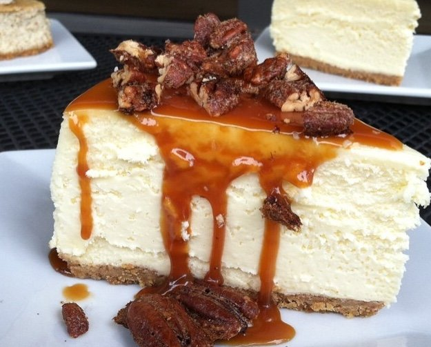 Caramel pecan cheesecake at Anthony's Cheesecake | Courtesy Anthony ...