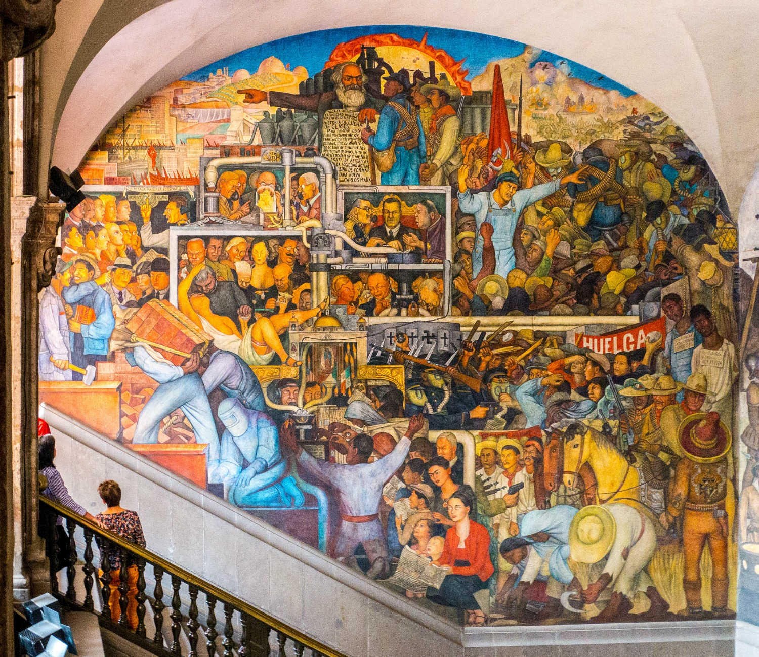 A brief overview of diego rivera s murals in san francisco for Diego rivera creation mural