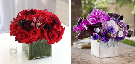 Monochromatic Red Pave. Photo Credit: Rose & Roses. Purple Leaves. Photo Credit: Design Shop