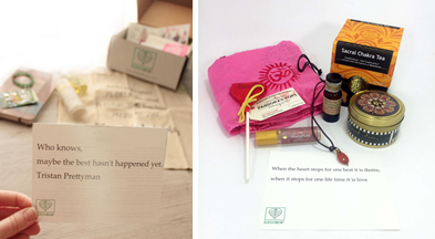 BuddhiBox's desire and monthly box. Photo Credit: BuddhiBox