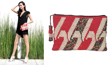 Cantel Ceramic Beaded Clutch. Photo Credit: Nicole Bakva from Alicia San Marcos