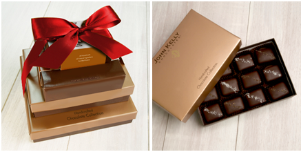 Signature Boxes and Gift Towers by John Kelly Chocolates. Photo Credit: John Kelly Chocolates
