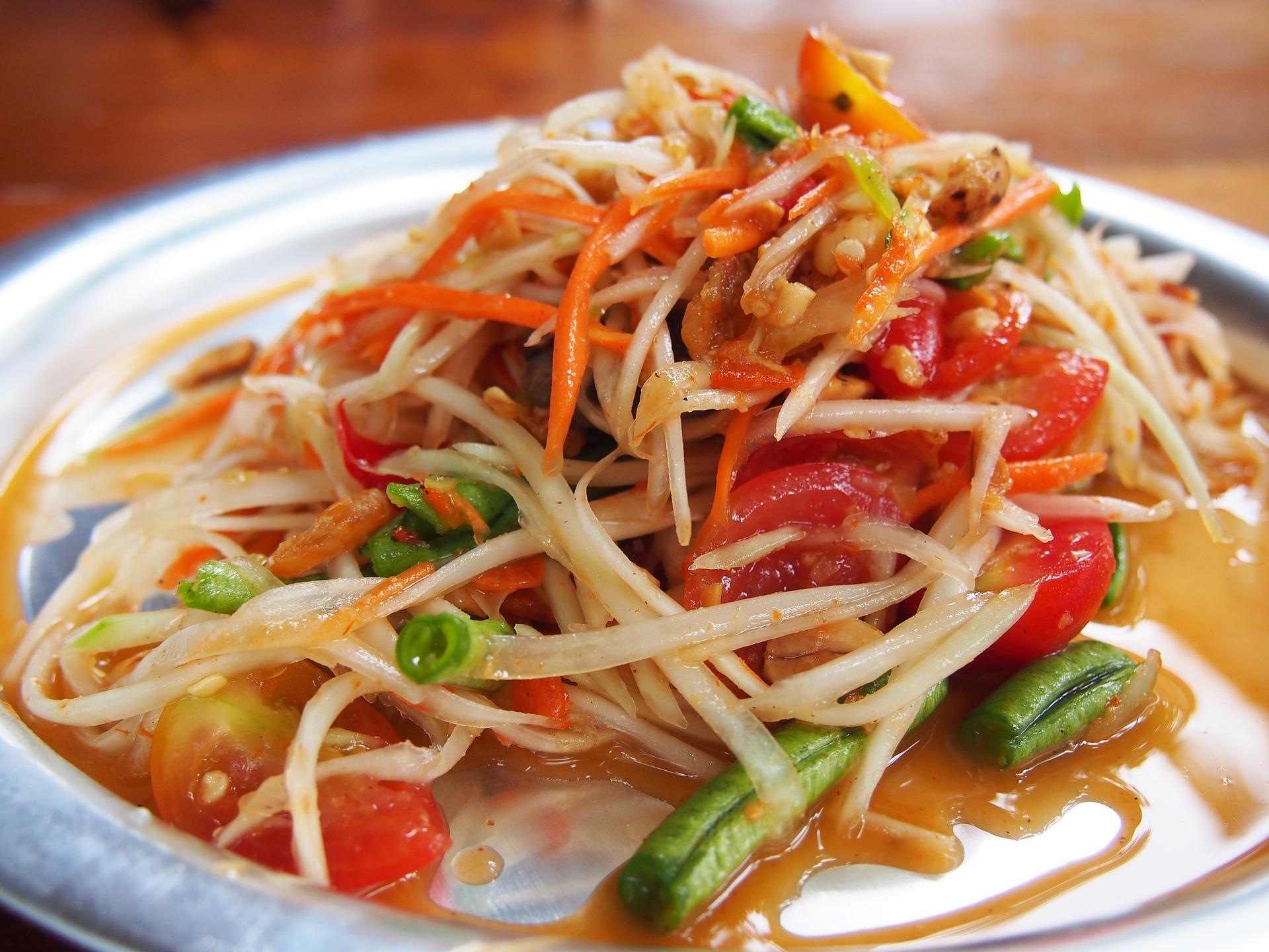 Тайский салат том сам с папайей рецепт