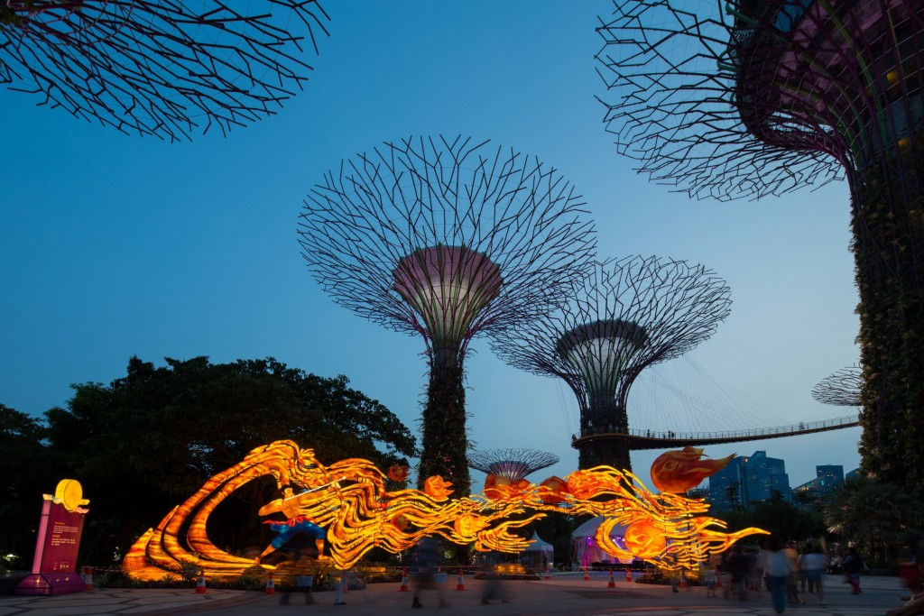 The ten suns lantern set - The widest lantern set at Mid-Autumn measuring 27m across courtesy of Gardens By The Bay