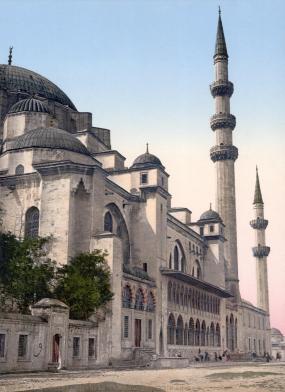 Mimar Sinan - Suleymaniye Mosque painting