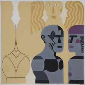 Stelios Votsis' geometric figurative art