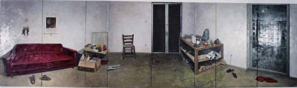 in Voskou's paintings the everyday object acquires a sentimental value