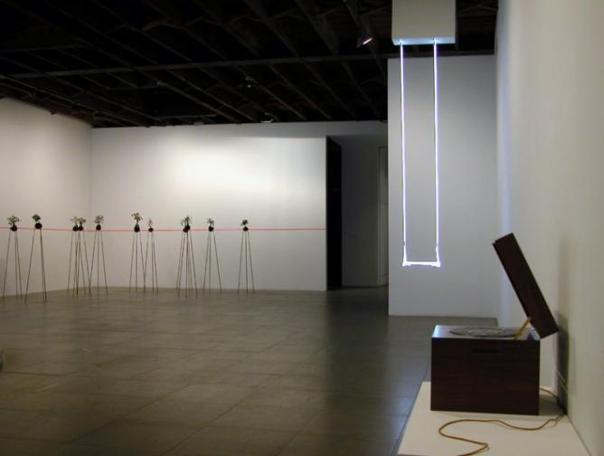 Su-Mei Tse art combines music, video and photography.Installation at Peter Blum Gallery