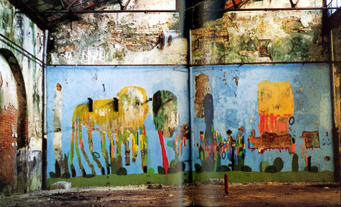 Federico Herrero - Untitled Wall Paiting, 2001 Vennice Biennale