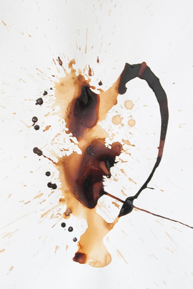 Coffee on paper, 42x29.7 cm, 2014. Courtesy of Ibi Ibrahim