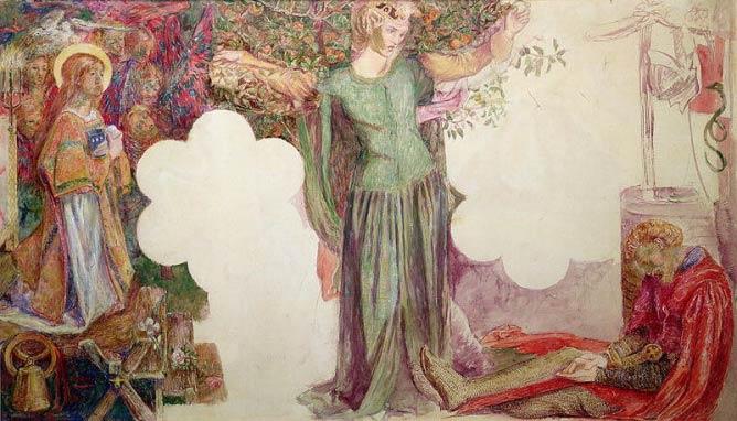 Rossetti's Oxford Union Design   © Bridgeman Art Library/Courtesy of WikiCommons