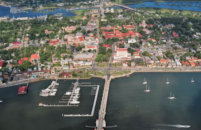 Aerial View of St. Augustine I Courtesy of the St. Augustine VCB