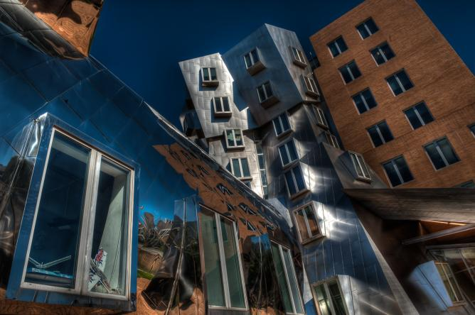 The Stata Center, designed by Frank Gehry, at MIT in Cambridge, Massachusetts © Dave Wilson
