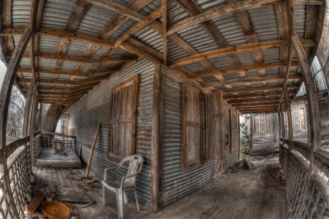 Abandoned cabins, Johnson City, Texas © Dave Wilson