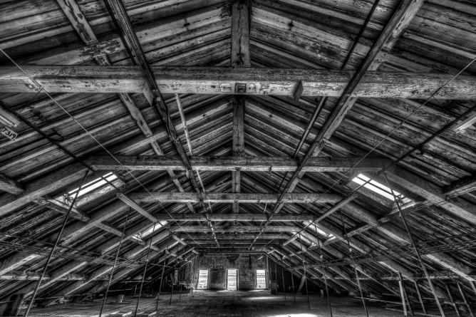 Interior of the roof of Stone Mill in Lawrence, Massachusetts © Dave Wilson