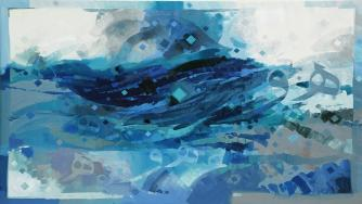 AbdulQader Al Rais, Al Sakeena, Serenity, 170 x 320 cm, Hunar Gallery, 2009 | Courtesy of the artist and Hunar Gallery