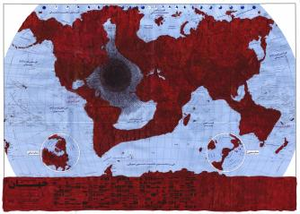 Ghazel, Mareé Rouge 04,100 x 140 cm, Carbon 12 & Ghazel, 2012 | Courtesy of Gazel and Carbon 12 & Ghaze