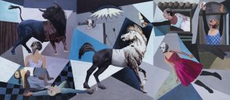 Oussama Diab, New Guernica, 250 x 570 cm, Ayyam Gallery, 2012 | Courtesy of the artist and Ayyam Gallery