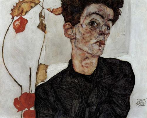 Schiele self portrait
