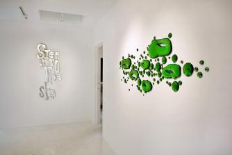 The Green Ray exhibit installation view