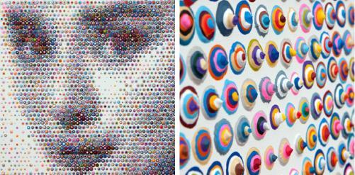 Painting by neo-pointillist Gavin Rain