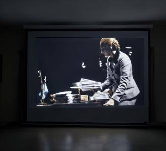 Nicola Costantino Evita video installation still