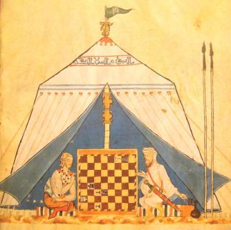 Ibn Jubayr, Muslim and Christians playing chess
