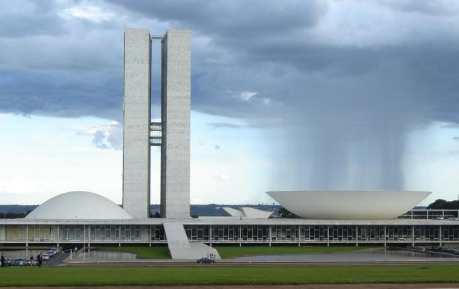 National Congress of Brazil, designed by Oscar Niemeyer | © Marcelo Jorge Vieira/WikiCommons