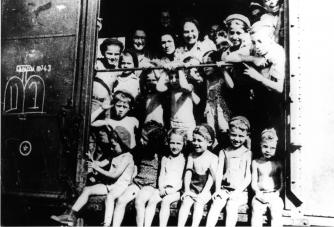 Children on Kasztner Train, 1944