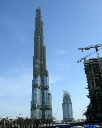 Burj Khalifa under construction, December 2007, Dubai
