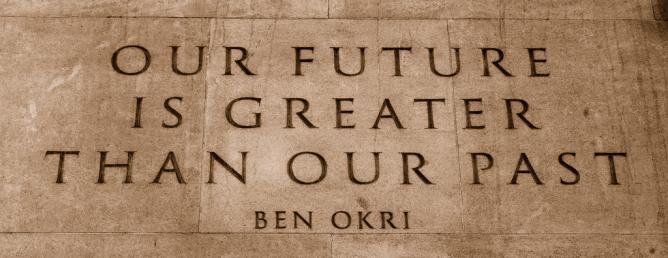 Quote from Ben Okri's Mental Fight on the Memorial Gates (Constitution Hill, Hyde Park   © Alessandro Lucia / Wikimedia Commons