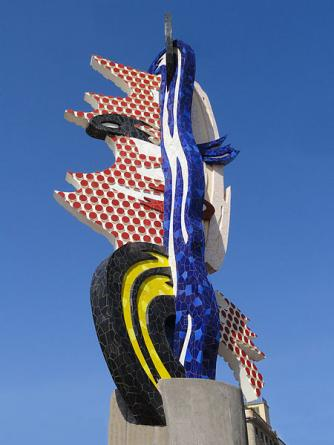 Roy Lichtenstein, Cap de Barcelona, sculpture, mixed media, Barcelona