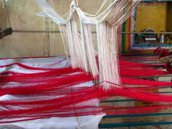 Silk Sari weaving