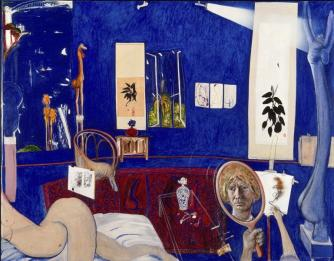 Brett Whiteley, Self portrait in the studio, 1976