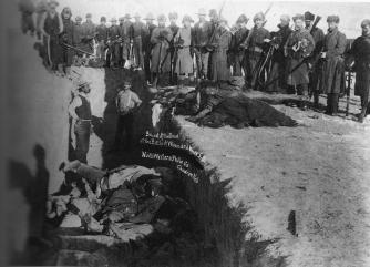 A mass grave at Wounded Knee, 1891