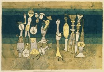 Paul Klee, Comedy, 1921, Watercolour and oil on paper, 305 x 454 mm, Tate.