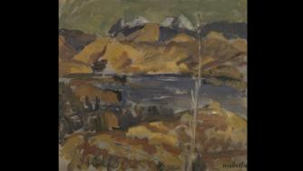 Toss Woollaston, View towards Mount Richmond, Nelson, c.1938 (oil on cardboard)
