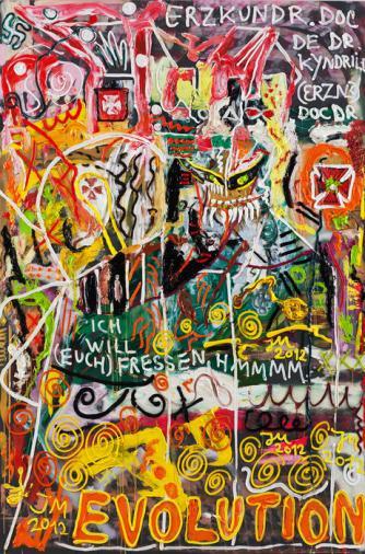 Jonathan Meese, Der Tollste Kunstvogt Ruft: Es Ist Höchste Erzzeit, Las Vegas Durchzubayreuthen, Aber Zacki-Zacki