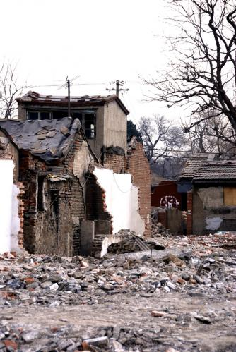 hutong destroyed