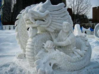 Snow Sculpture | © SteFou/Flickr