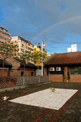Annie Lai-kuen Wan, 'I Think It Rains' 2013, installation of clay tiles at Cattle Depot Artist Village Hong Kong. Image courtesy of the artist.