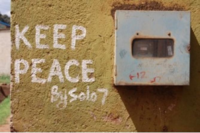 Solo 7, 'Keep Peace'. Photo: The Artist