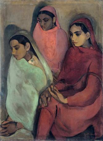 Amrita Sher-Gil, Three Girls, 1935