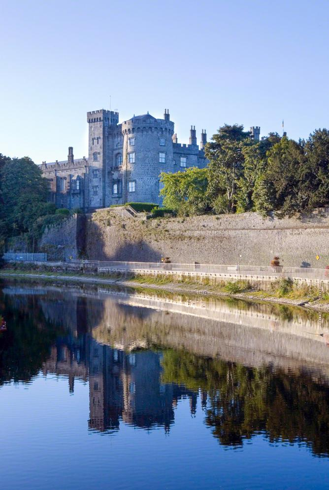 Kilkenny Castle overlooking The River Nore.