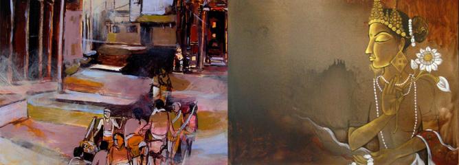 Kasthmandap Art Studio, Painting by Pradip, Nepal