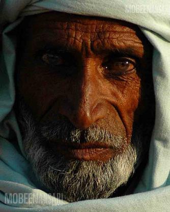 Portrait of a Man, Fateh Jang, Pakistan, Mobeen Ansari