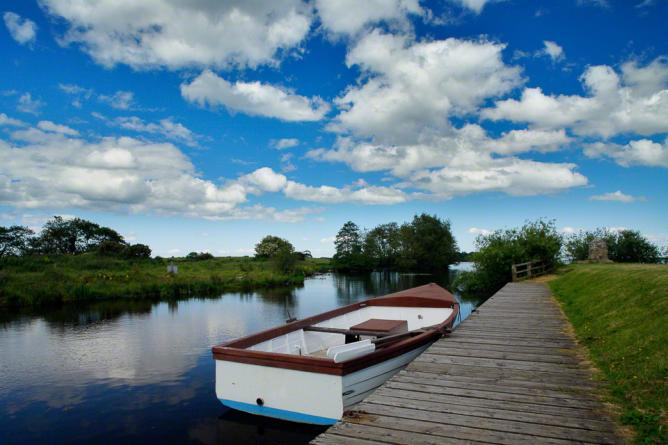 The River Bann flowing through Co.Armagh just before it enters Lough Neagh